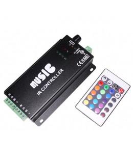 Контроллер RGB ИК с ПДУ (24кн) led-ir24M3-rgb 12В 10А Music