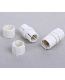 Соединитель(муфта) для дюралайта 13 мм, 3W(трехжильный), прямой