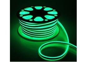 Гибкий неон 16х8мм 120LED 2835 220V Зеленый NEON
