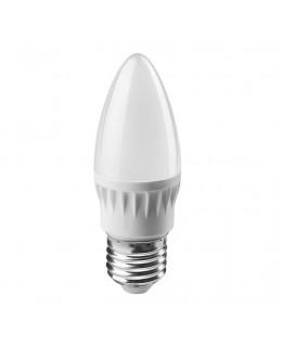 Светодиодная лампа 6Вт свеча 2700К тепл. бел. E27 450лм 176-264В ОНЛАЙТ