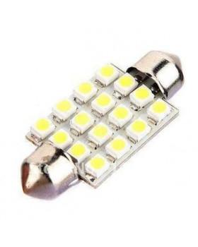 Cветодиодная лампа 36мм 16 SMD 1206