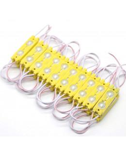 Светодиодный модуль 2835 2-SMD с линзой 160° 2835-2smd-LS-y Желтый