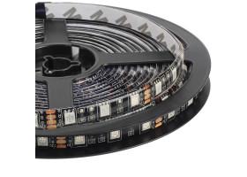 Светодиодная лента(черная) 5050 LUX LEDx60x1-BQRI-RGB RGB(Мультицвет) 12В, 14.4Вт IP65