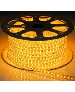 Светодиодная лента 5050 220В 60LED/м IP67 Желтый 50м  led-5050-60-220v-y