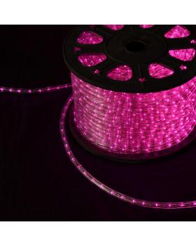 Светодиодный дюралайт 24LED 220-240В 11мм Розовый Фиксинг