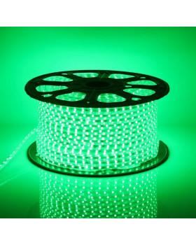Светодиодная лента 5050 220В 60LED/м IP67 Зеленый 50м  led-5050-60-220v-g