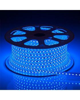 Светодиодная лента 3014 LEDх120х1-V220-B Синий 220В  IP67