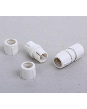 Соединитель(муфта) для дюралайта 11 мм, 2W(двухжильный), прямой