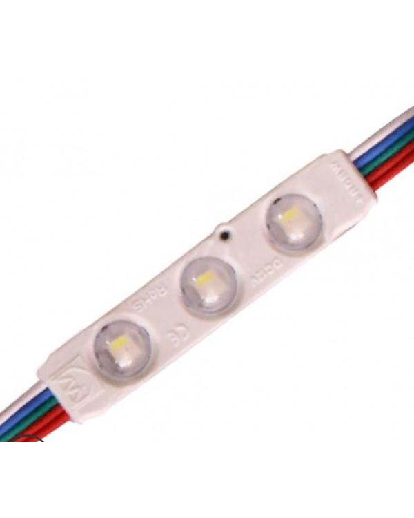 Светодиодный модуль RGBW 5050 3-SMD с линзой 160° 5050-3smd-LS-rgbw