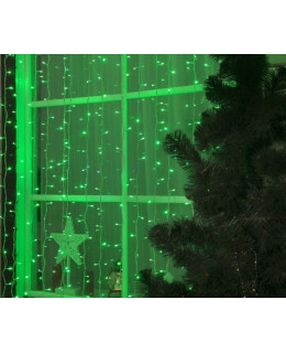 """Уличная LED гирлянда """"Занавес"""" 2х3м ПВХ LED-ZP-2x3-g Зеленый"""