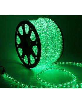Светодиодный дюралайт 36LED 220-240В 13мм Зеленый Фиксинг
