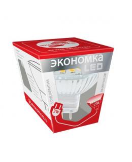 Светодиодная лампа GU5.3 3Вт Экономка Теплый