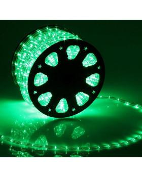 Светодиодный дюралайт 24LED 220-240В 11мм Зеленый Фиксинг
