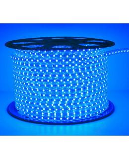 Светодиодная лента 5050 220В 60LED/м IP67 Синий 50м  led-5050-60-220v-b