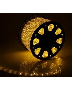 Светодиодный дюралайт 24LED 220-240В 11мм Желтый Фиксинг