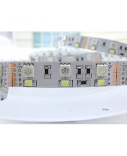 Светодиодная лента 5050-2835 LUX LEDx60-60x2-SQPR-RGBW RGB+Белый 12В, 17Вт