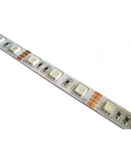 Светодиодная лента 5050 LUX LEDx60x1-SQR-R Красный 12В, 14.4Вт