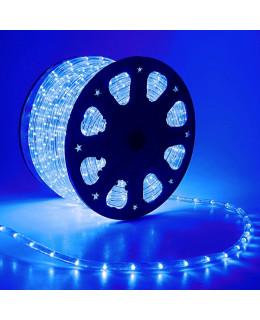 Светодиодный дюралайт 24LED 220-240В 11мм Синий Фиксинг