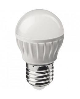 Светодиодная лампа 6Вт шар 4000К белый E27 470лм 176-264В ОНЛАЙТ