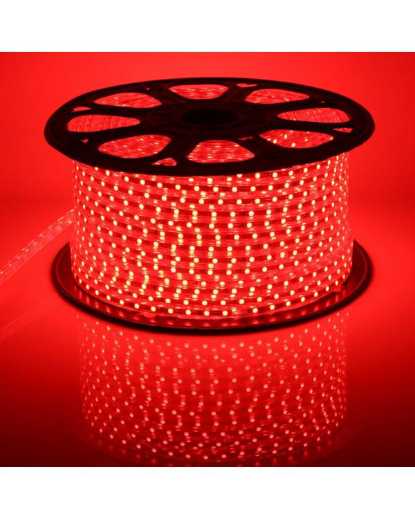 Светодиодная лента 5050 220В 60LED/м IP67 Красный 50м led-5050-60-220v-r