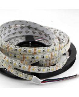 Светодиодная лента 5050 LUX LEDx60x1-SQRI-RGBW RGB+Белый 12В, 14,4Вт IP65