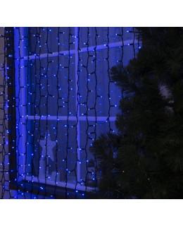 """Уличная LED гирлянда """"Занавес"""" 2х3м Каучук LED-ZS-2x3-b Синий"""
