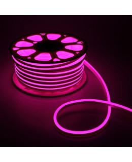 Гибкий неон 16х8мм 120LED 2835 220V Розовый NEON