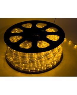 Светодиодный дюралайт 30LED 220-240В 13мм Желтый Фиксинг