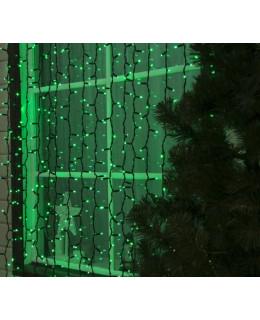 """Уличная LED гирлянда """"Занавес"""" 2х3м Каучук LED-ZS-2x3-g Зеленый"""