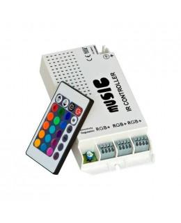 Контроллер RGB ИК с ПДУ (24кн) led-ir24M2-rgb 12В 9А Music