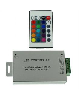Контроллер RGB ИК с ПДУ (24кн) led-ir24al-rgb 12В 12А