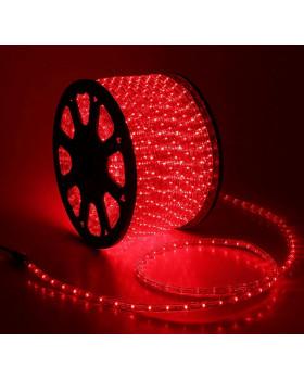 Светодиодный дюралайт 36LED 220-240В 13мм Красный Фиксинг