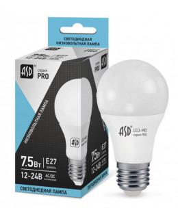 Светодиодная лампа LED-MO-12/24V-PRO 7.5Вт 12-24В E27 4000К 600лм ASD