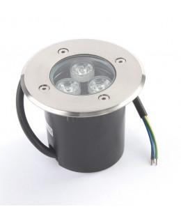 Грунтовый светильник LED 3Вт GR-3w-12vr Красный