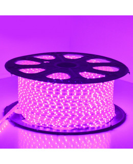 Светодиодная лента 5050 220В 60LED/м IP67 Розовый 50м  led-5050-60-220v-p