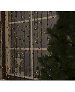 """Уличная LED гирлянда """"Занавес"""" 2х3м Каучук LED-ZS-2x3-y Желтый"""