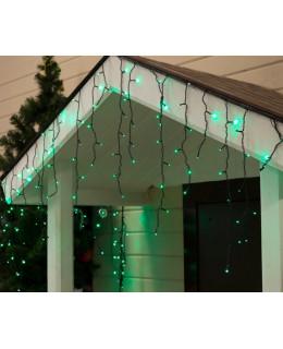 """Уличная LED гирлянда """"Бахрома"""" 3х0,6м ПВХ LED-BM-160-3x0,6-g Зеленый"""