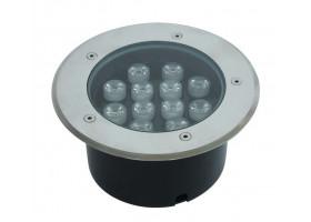 Грунтовый светильник LED 12Вт 24В GR-12w-24vr Красный